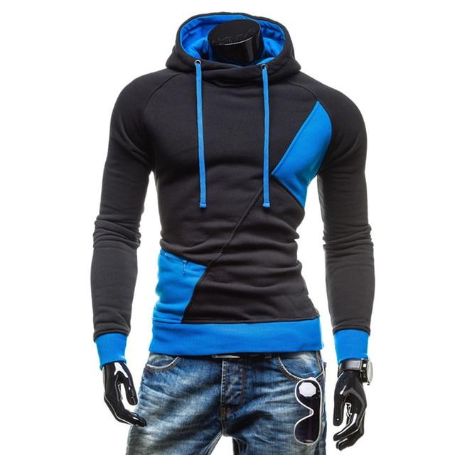 2017 Autumn Winter Sportwear Hoodies Men Casual Pullover Oversized Hoodie Long Sleeve Fleece Tracksuit Male Sweatshirt 3XL