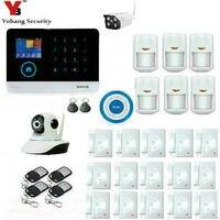 YobangSecurity Беспроводной Wi Fi GSM охранная сигнализация Системы открытый Беспроводной комплект ip камеры для дома Бизнес дом кВА