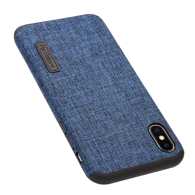 MLLSE Cloth Case For iPhone X Fashion Linen Cloth & Soft TPU Silicone Anti-knock Cover For iPhone 10 Shockproof Protective Funda (5)