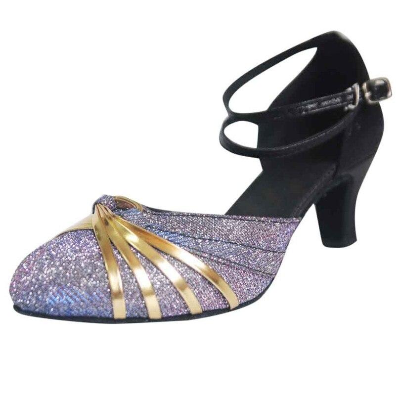 Women Soft Dance Shoes Half Sole Ballet Practice Pads Jazz Shoes Sequined