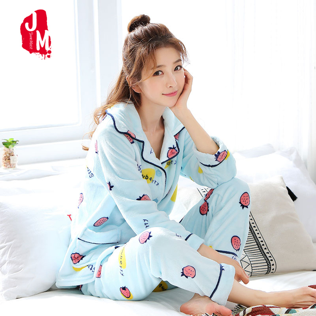 Sleep Autumn Pyjamas Women Winter Cartoon Female Pajama Sets Thick Warm  Sexy Pajamas Pyjama Femme Suit Plus Size Homewear XL XXL 7ef25b68f