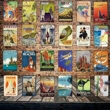 [Mike86] Путешествия цит Страна Металлическая Пластина Бразилия Нью-Йорк настенные плакаты Винтаж оловянный знак антикварные сувениры фестиваль подарок FG-256