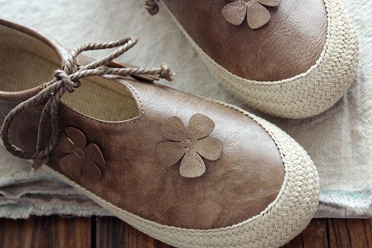 rose Ronde Plat chocolat Chaussures Plates La Rétro Sen Vert À Littérature Profonde Bouche Coton Département Nouveau Art Peu Main 6Tpwzng