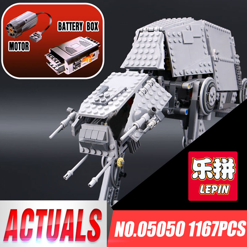 LEPIN 05050 1137pcs Star Series War AT TOYS AT the Robot Model Building block Brick Educational Funny Classic 75054 Boys Gift lepin 05040 y attack starfighter wing building block assembled brick star series war toys compatible with 10134 educational gift