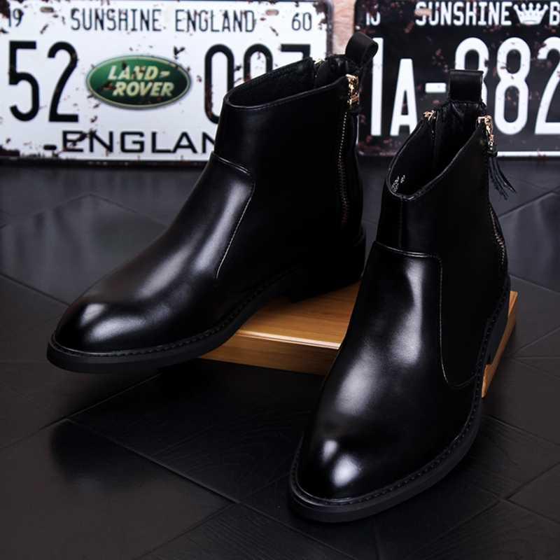 Stephoes 新男性ファッションカジュアル秋冬高品質チェルシーブーツ男性ブーツ Bota Ş Hombre
