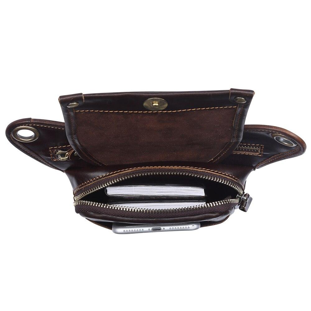 Мужские сумки на пояс из натуральной кожи, сумки мессенджеры через плечо, забавные Сумки на пояс, многофункциональные мужские сумки для путешествий, 6369 - 5