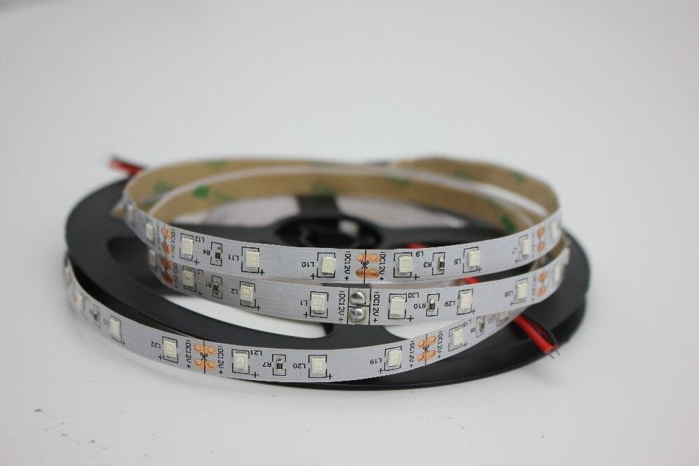1/2/3/4/5 м 2835/3528 УФ-белый PCB Номера Warterproof 60 шт./м ультрафиолетового светодиодный полосы, 395nm SMD фиолетовый 300 светодиодный Flex полосы света, DC12V