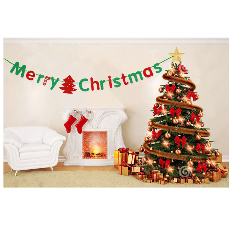 Christmas Decorations Ideas For Hotels: Letter Banner Christmas Garland Pendant Decoration To The