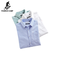 Pioneer Camp New Autumn Oxford Casual Shirt Men Brand Clothing Simple Social Shirt Male Top Quality