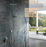 free shipping becola 8 10 12 16 inch shower set wall mounted stainless steel rainfall head chrome shower faucet kit