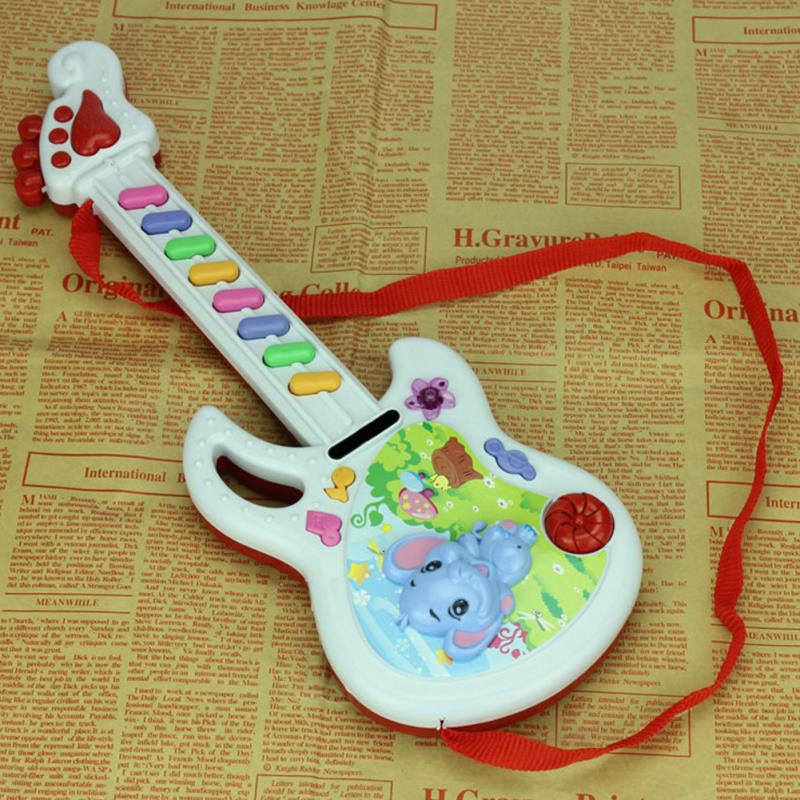 Kids Play Baby Acoustic Plastic Elephant Music Keyboard Guitar Musical Instrument Baby Toy Gift Color Send By Random