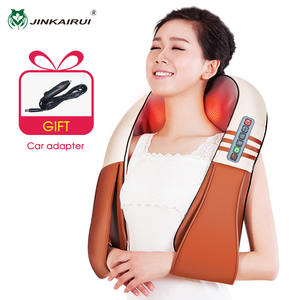( with Gift Box) JinKaiRui U Shape Electrical Shiatsu Back Neck Shoulder Body Massager