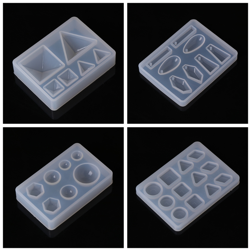 JAVRICK Silicone Mold DIY Geometric Triangle Mirror Craft Jewelry Making Decorative Cake Resin Molds Tool For Jewelry