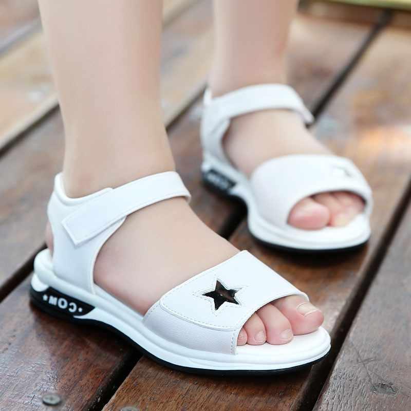 SLYXSH Kızlar Sandalet 2019 Yeni Düz plaj ayakkabısı Koreli Kızlar Yaz Kız Çocuk Prenses Ayakkabı