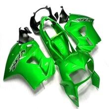 Niestandardowe motocykl ABS Fairing dla VFR800 1998 1999 2000 2001 VFR 800 98 01 + Botls + zielone nadwozie