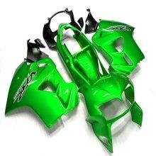 Özel motosiklet ABS Fairing için VFR800 1998 1999 2000 2001 VFR 800 98 01 + civatalar + yeşil kaporta