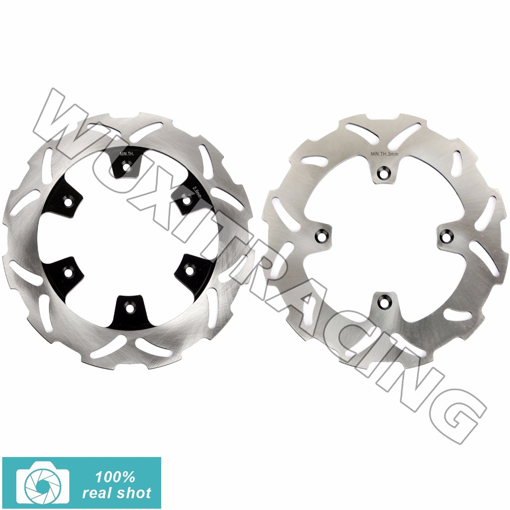 2pcs Full Set Motorcycle New Front Rear Brake Discs Rotors for SUZUKI RM85 RM 85 2005 2006 2007 2008 2009 2010 2011 2012 free shipping alloy shock cap set piggy back shock caps for baja 5b ss and 5t