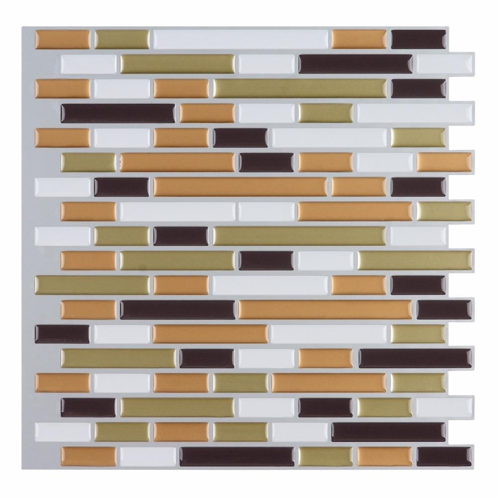 10 Peel And Stick Backsplash Tile Wall Sticker Vinyl Wall Covering 12 X 12