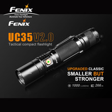 Micro USB Rechargeable FENIX UC35 V2.0 LED 1000 Lumens Tactical Compact Flashlight with 3500mAh Li-ion Battery(China)