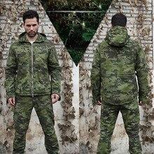 Спортивная тактическая новая весенняя камуфляжная куртка, военная Мужская ветрозащитная куртка с несколькими карманами для походов и кемпинга