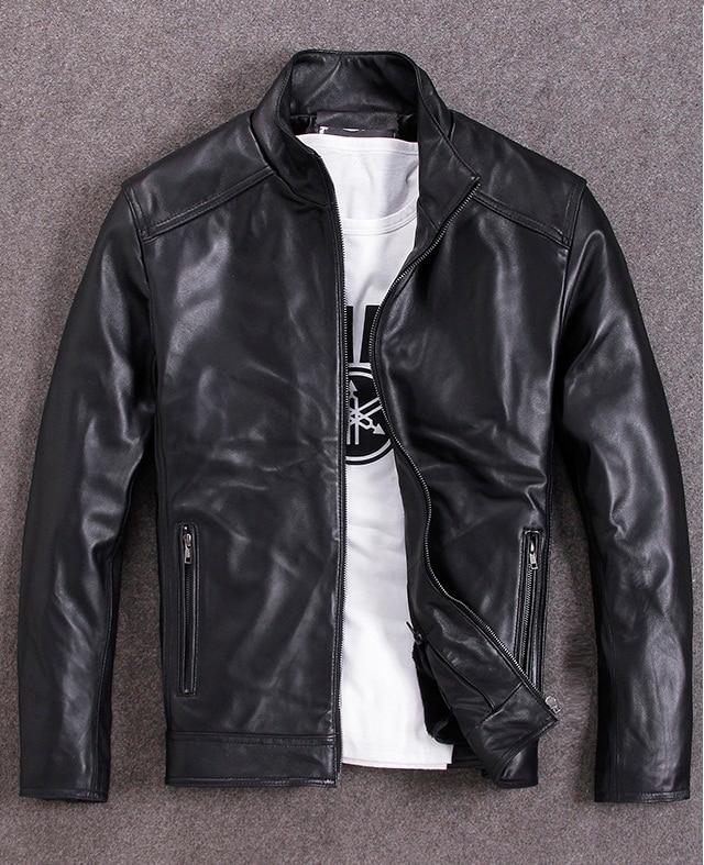 Freies verschiffen. plus größe Marke leder mantel, mann echtes leder Jacken, winter warme schaffell jacke, casual stil Falsche, günstige-in Echte Ledermäntel aus Herrenbekleidung bei  Gruppe 1