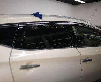 ABS כרום פלסטיק חלון Visor Vent גווני שמש גשם משמר רכב לניסן מוראנו 2015 2016 2017 2018 רכב סטיילינג