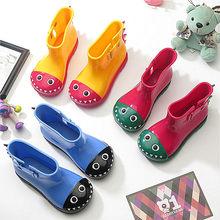 Mini Melissa  New Kids Rain Boots Anti-skid Warm Rainboots Boys Girls Cute Cartoon Children's Babys Shoes Toddler Kids Boats