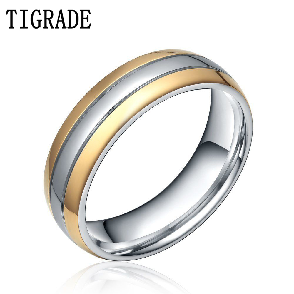 Simple Silver Wedding Rings For Women TIGRADE 6mm/8mm...