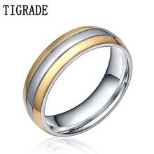 купить 6mm/8mm Men's Women's Wedding Engagement Band Gold Silver Tone Titanium Ring по цене 534.58 рублей