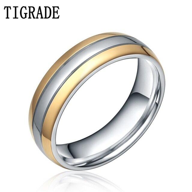Tigrade 6mm 8mm Men S Women S Wedding Rings Simple Engagement Band