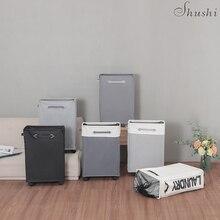Shushi sac à panier pour vêtements sales, facile à déplacer, à roulettes, panier de rangement à linge sale et pliable