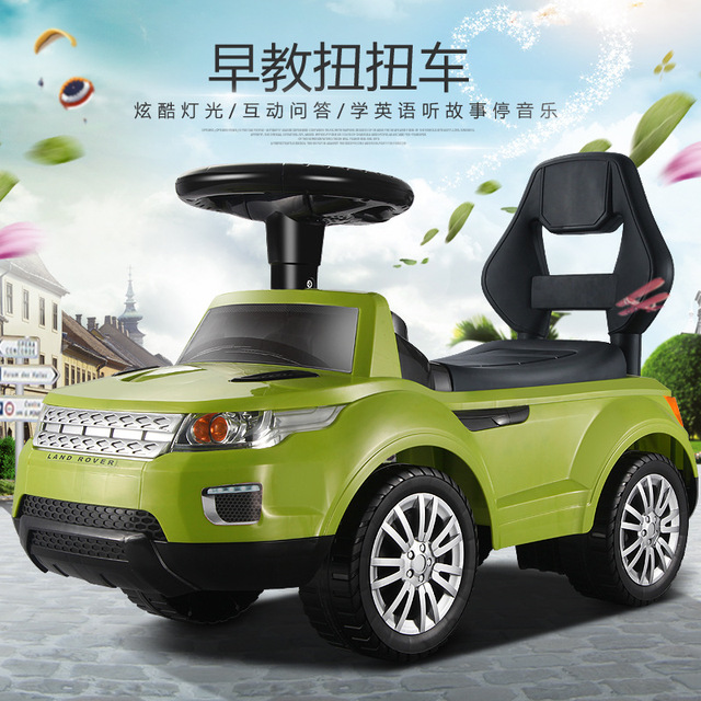 Free Shipping multifunctional children twist car with light and music education taxi car four wheel Toddler Toys Baby