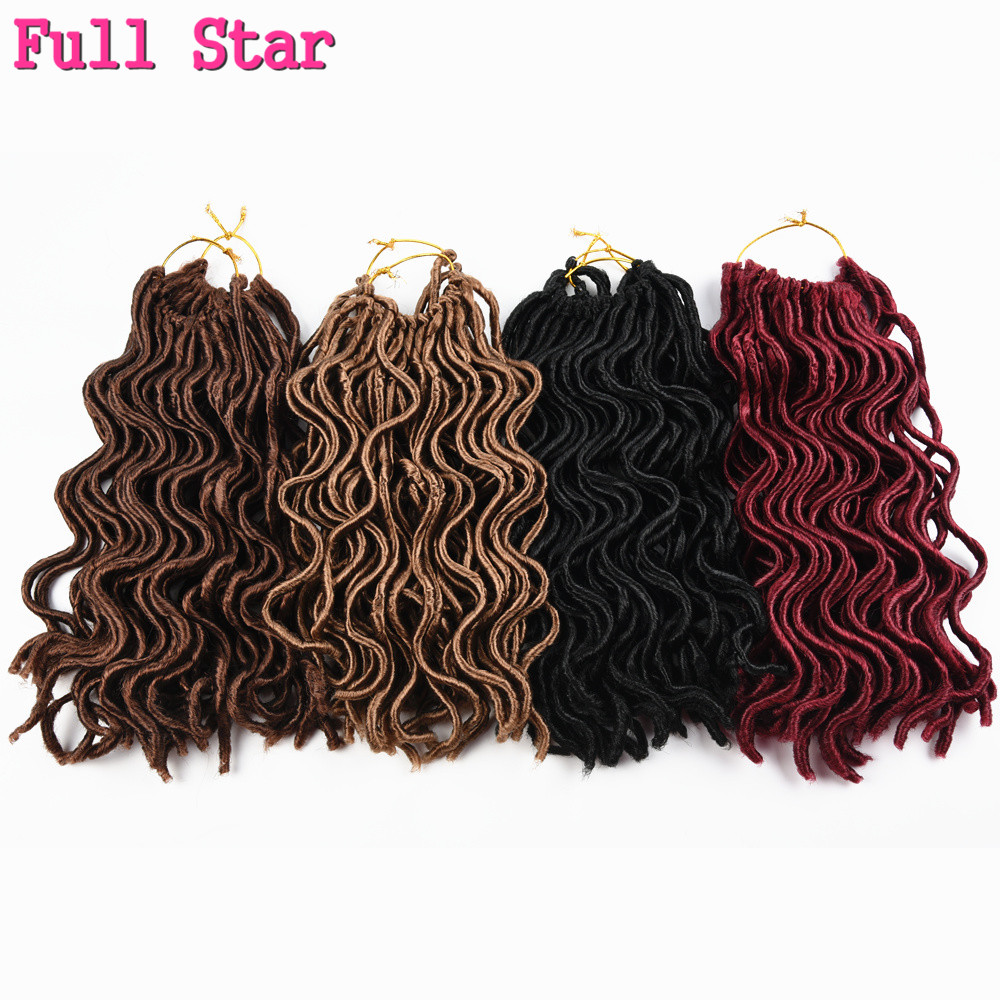Full Star 6 pcs Faux Locs Curly 10