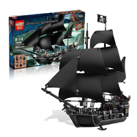 16006 804pcs Legoings Model Building Blocks Bricks Pirates of the Caribbean the Black Pearl Ship Toys Best Gift for Kids