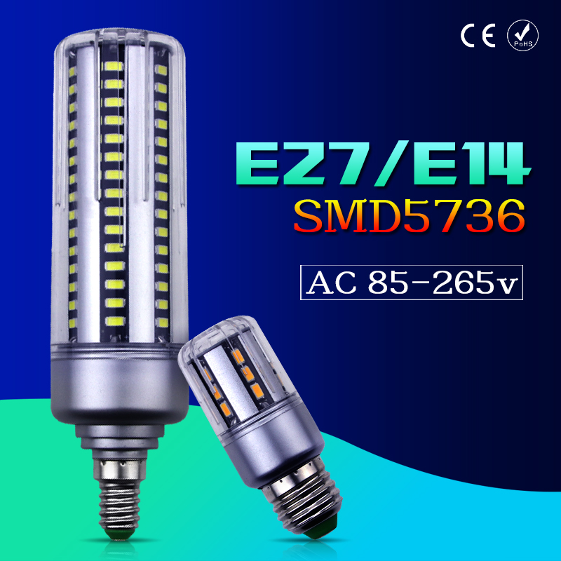 SMD 5736 E27 E14 LED Light Corn Lamp 5W 7W 9W 12W 15W 18W 20W Led Bulb 110V 220V Lampada Candle Ampoule LED Replace Halogen Lamp