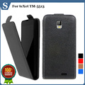 Factory price , Top quality new style flip PU leather case open up and down for teXet TM-5513, gift
