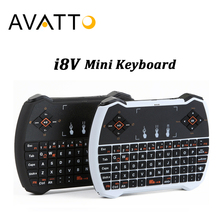 [AVATTO] Russian/English Backlight Mini Keyboard with 2.4G WirelessTouchpad Handheld for Smart tv,Android Box,Tablet,Laptop,iPad