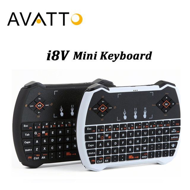 [Avatto] mini i28/i8 v, 2.4 ghz teclado sem fio, touchpad handheld jogo air mouse for android tv box/tablet/laptop/ipad gamer