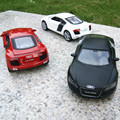 Free Shipping 1:32 kids toys AUDI R8 metal toy cars model for children pull back car miniatures gifts for boys