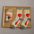 One Pair Character Pattern Women Lovers Boyfriends Unisex Winter Warm Short Ankle Socks Cotton Socks Stripe Scrawl Cartoon S5249