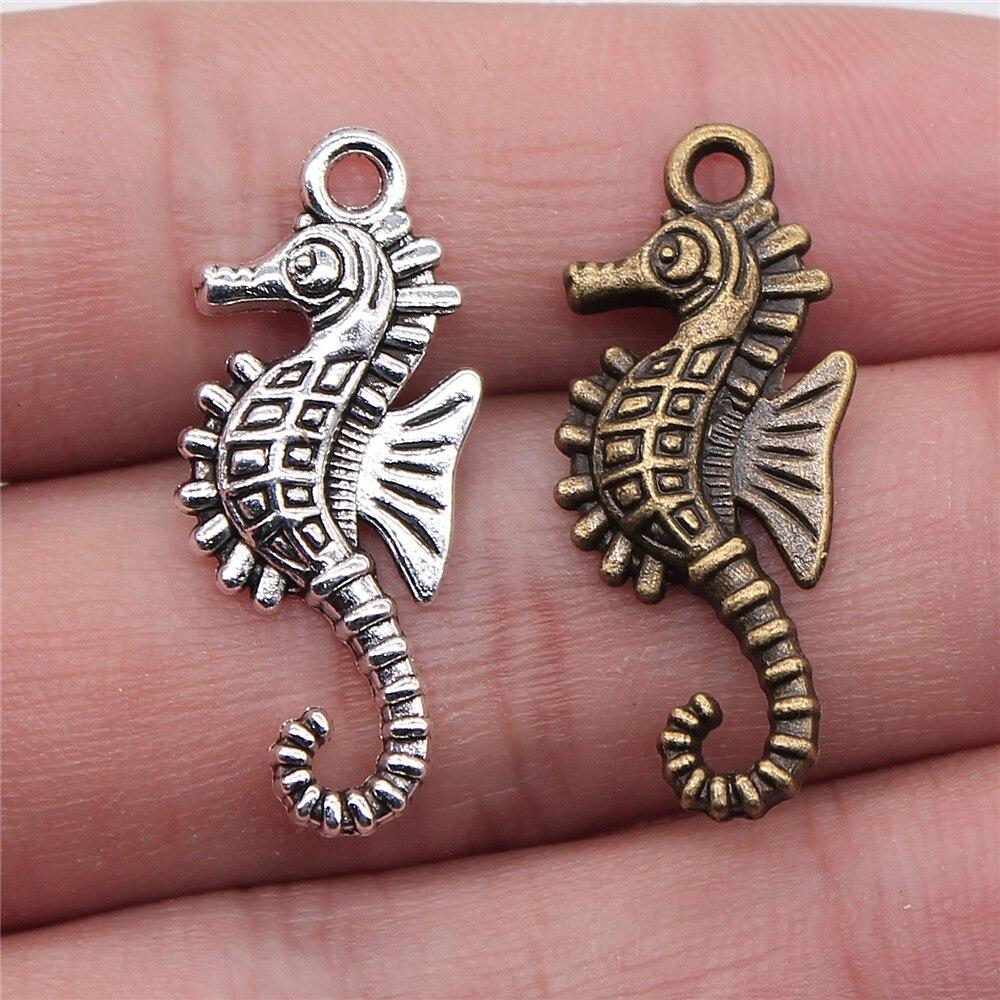 Tibetan Silver Seahorse//Sea Horse Charms 10 per pack