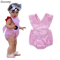 2017 New Baby Kids Girl Clothes  Romper Jumpsuit Sleeveless Cotton blend Play suit Outfits Sunsuit Child Cloting v