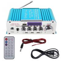 Car Audio Power Amplifier12V 2CH Bluetooth FM Radio Player Car Motorcycle Home HIFI sound amplifiers SD/USB/DVD/MP3 Input