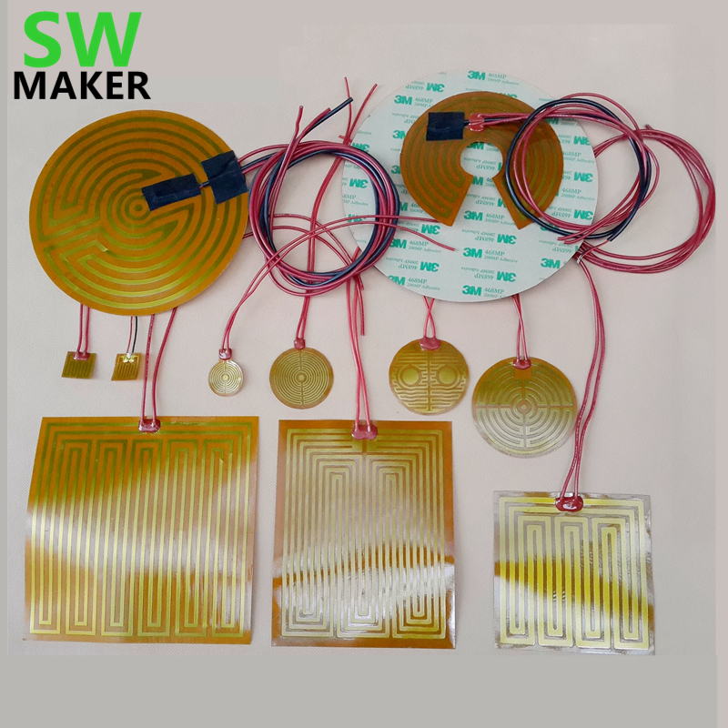 Ambitious Swmaker 25/70/44/160/180/220/260/240/330mm Round Polyimide Film Heater Bed Ntc3950 Thermistor For Delta Kossel 3d Printer Computer & Office