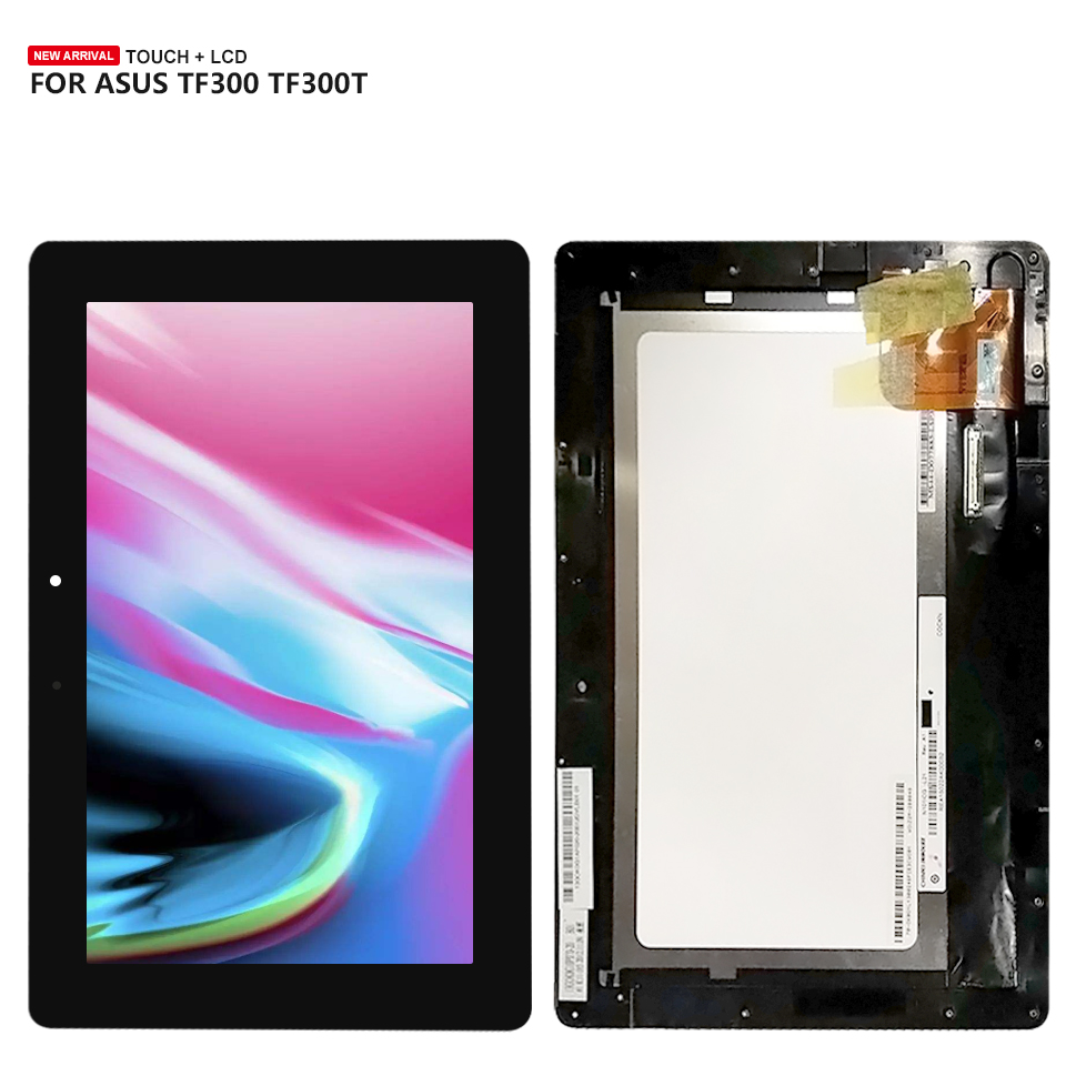 For Asus TF300TG TF300T TF300TL TF300 5158N FPC-1 Touch Screen Digitizer + LCD Display Assembly new 10 1 inch for asus transformer pad tf300 tf300t tf330tg digitizer touch screen 5158n fpc 1