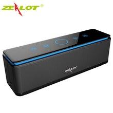 ZEALOT S7 مكبر صوت بلوتوث محمول عالي الطاقة, ستيريو ، لاسلكي ، للكمبيوتر والهواتف ، يدعم بطاقة Tf ، بنك الطاقة