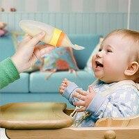 Version améliorée 1 PCS Peut squeez Bébé Nouveau-Né Enfant Gel De Silice Biberon Cuillère Complément Alimentaire de Céréales de Riz