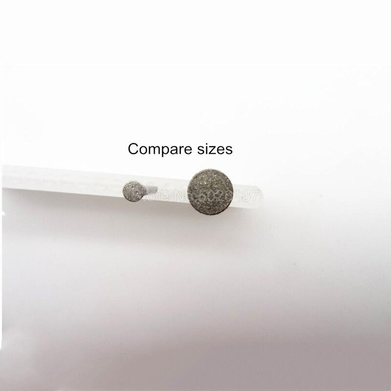 1 Pcs C3 Tipe Tanduk Kuku Ukiran Giok Grinding Kepala Bit Berlian Stylus Batu Engraving Needle Kaca Poles Mengasah Wheel
