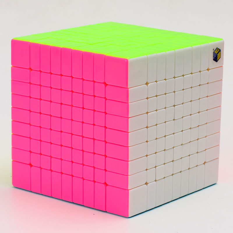 Brand New Yuxin Zhisheng Huanglong High Bright Stickerless 9x9x9 Speed Magic Cube Puzzle Game Cubes Educational Toys for Kids verrypuzzle clover dodecahedron magic cube speed twisty puzzle megaminx cubes game educational toys for kids children