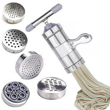 Stainless steel household handle pressing machine noodles manual noodles machine for homemade pasta noodles